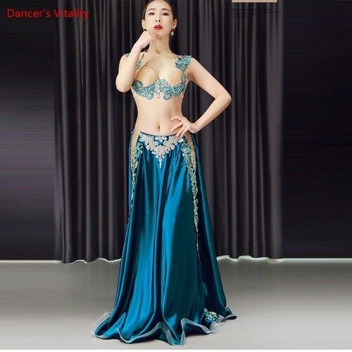 Details about  /2pcs Belly Dance Costume Belly Dancing Set Costume Indian Dress Bellydance Dress