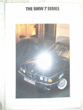 BMW 7 Series range brochure 1991 ed 1