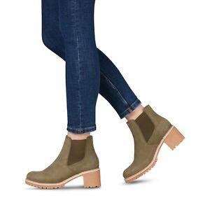 performance sportswear casual shoes ever popular Details zu Tamaris Schuhe Stiefel Stiefeletten Chelsea Boots Irina grün  olive antik Leder