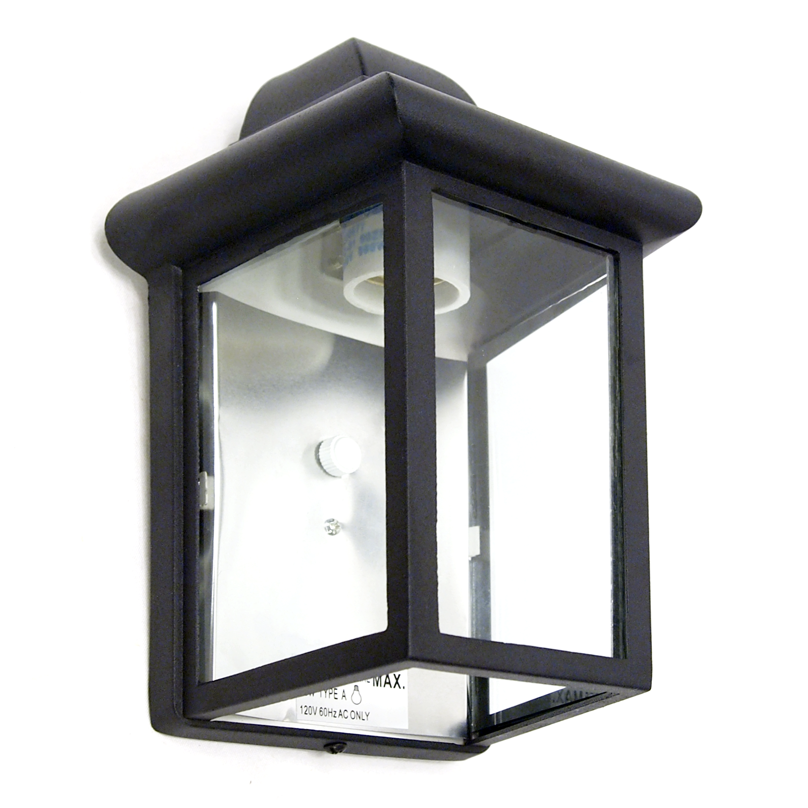 Outdoor porch light led bulb 9 black fixture with clear glass panes 458 06 for sale online