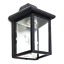 Outdoor-Porch-Light-LED-Bulb-9-034-Black-Fixture-with-Clear-Glass-Panes-458-06 thumbnail 4