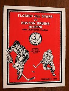 Vintage 1989 Boston Bruins Alumni Florida All Stars Game Program NHL Hockey