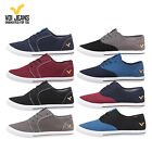 VOI JEANS CANVAS LACE UP PUMPS TRAINERS SHOES - BLACK/BLUE/GREY/BURGUNDY