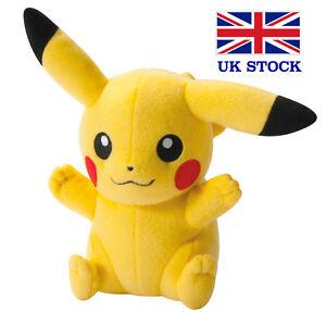 "Pikachu Plush Toy Pokemon Teddy 8"" (20cm) Kids Gift - UK STOCK !! FAST&FREE!"
