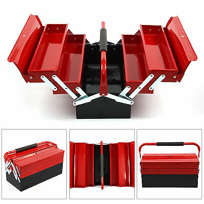 3 Tiers5 Tray 430MM Workshop Heavy Duty Metal Cantilever Tool Box Tool Storage