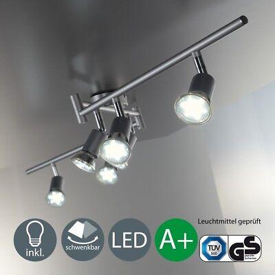 Deckenlampe LED Decken-Leuchte Strahler 6-flammig Wohnzimmer 6er Spot schwenkbar