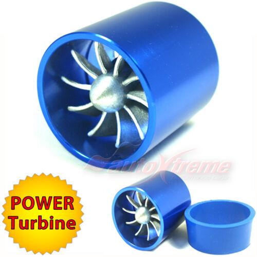 "55-64mm 2.2-2.5/"" TURBO CHARGER Turbonator AIR INTAKE TURBINE Fuel Saver Fan BLUE"