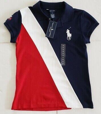 12//14 NWT Polo Ralph Lauren GIRLS DRESS  CRNBLU MLT L #5A