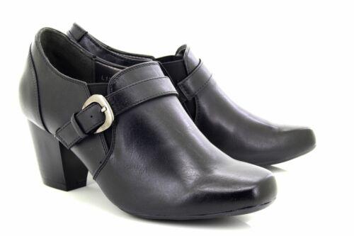 Boulevard Anna L132 Heeled Buckle Mid Heel Shoes
