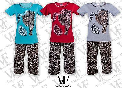 Suche Nach FlüGen Ladies Pyjama Set Short Sleeve & 3/4 Shorts 6•8•10•12•14 Laph5177