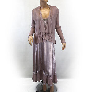 NEW NWT Komarov Woman Nordstrom Plus Size Pleated Beaded Scoop Gown ...
