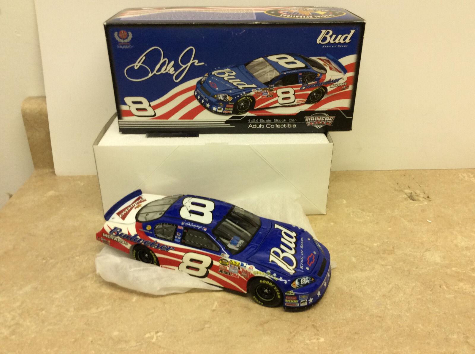 Driver Select Dale Earnhardt Jr  8 Monte Carlo Warrior 1 24 Diecast Car W  Box