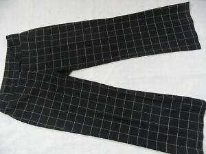 Rabatt-Verkauf noch eine Chance riesige Auswahl an Details zu ZERO tolle groß karierte Hose weites Bein Marlenehose schwarz  Gr. 40 TOP 519