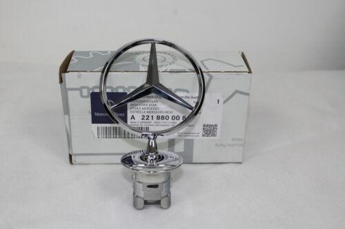Genuino Mercedes-Benz todos cromo campana Star Emblema Insignia 93-08 a2218800086 Nuevo