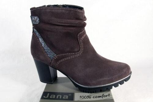 Cuoio Stivaletti Boots Grigio Donna Jana Nuovo Stivali Vero 25333 qw6Wv