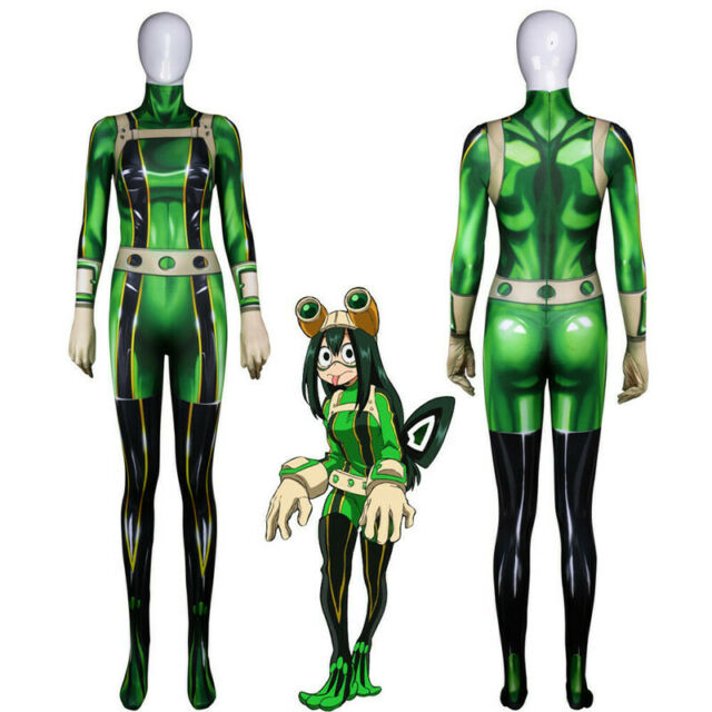 Boku No Hero Academia Tsuyu Asui Froppy Cosplay Costume 3d Print Zentai Suit