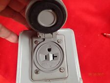 Reliance Controls 30 Amp Power Inlet Box Raintight Spring
