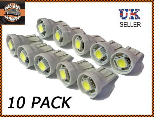 LED 501 T10 W5W Sidelight Interior Number Plate Bulbs x10