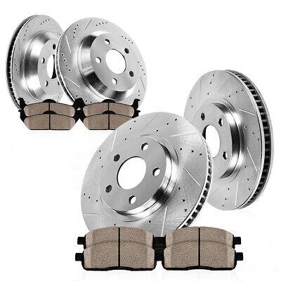 Rear Brake Rotors /& Ceramic Pads for 2006 2007-2010 Chevy Impala Monte Carlo