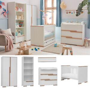 Details zu Babyzimmer Kinderzimmer komplett SPRING Set A weiß Schrank  Kommode Bett Regal