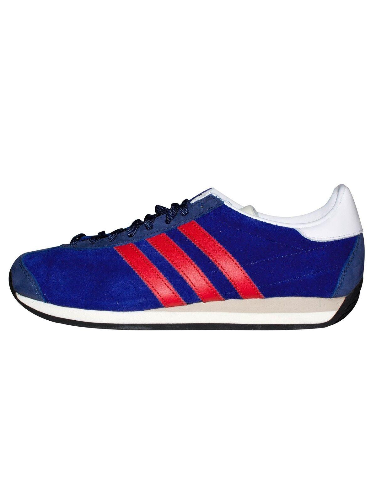 Los últimos zapatos de descuento para hombres y mujeres Adidas Originals Country og azul y rojo entrenador