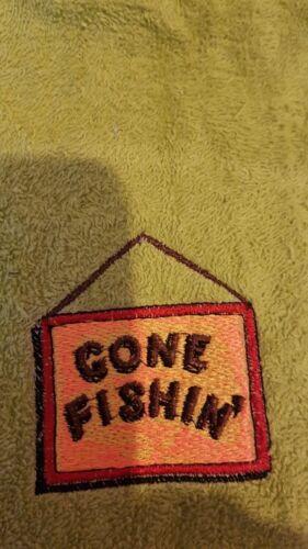 añadir un nombre Personalizar Gone Fishing Bordado Personalizado Toalla de Pesca