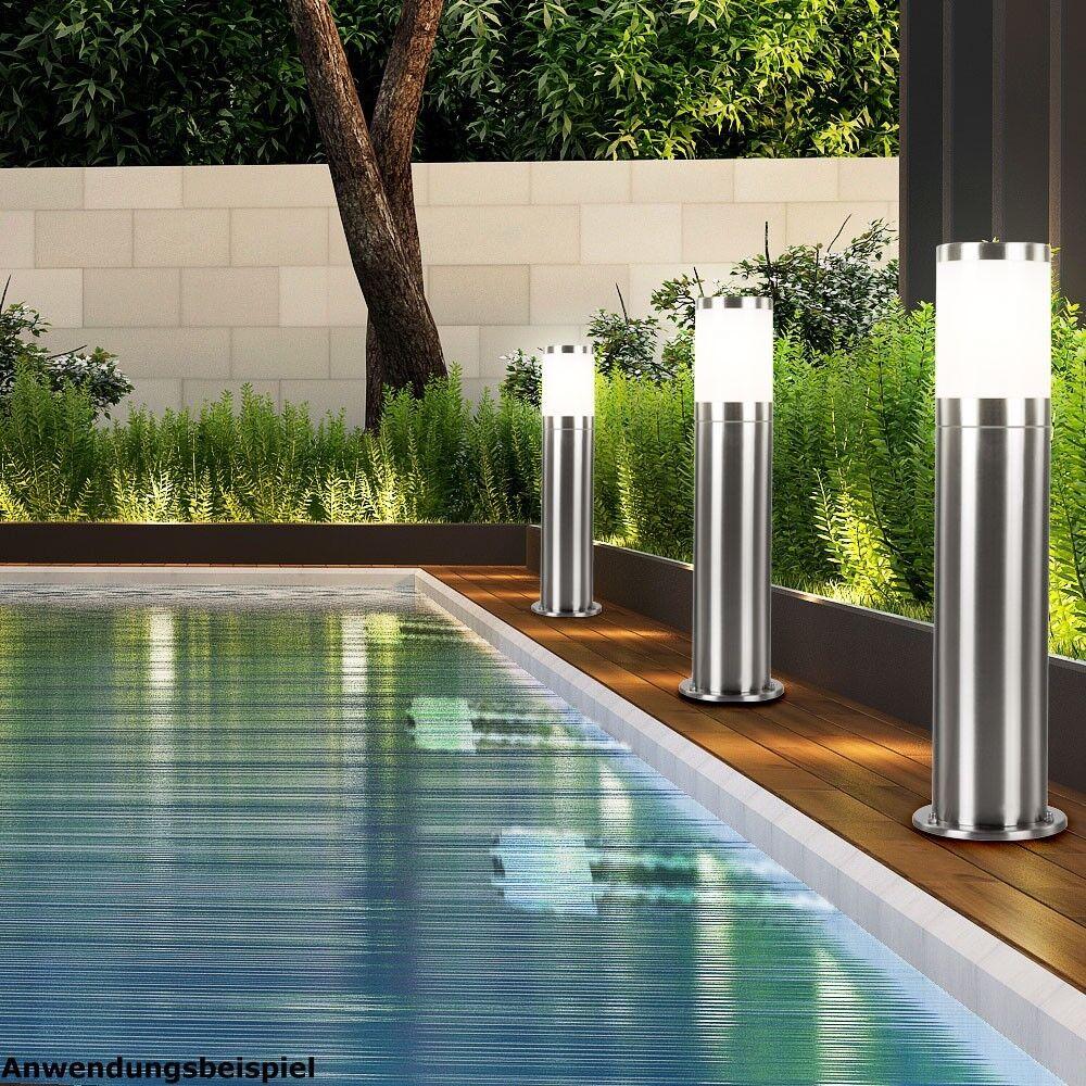 Set De 2 Piso De Acero Inoxidable lámparas de iluminación de jardín patio Luces IP44 Moderno