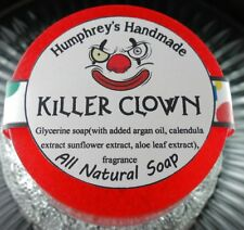KILLER CLOWN Shave Soap Round Glycerin Natural Cotton Candy Scent Unisex Womens