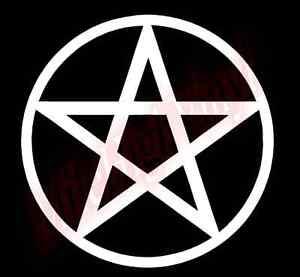 Pentagram Pagan Pentacle Vinyl Decal Window Glass Sticker Star