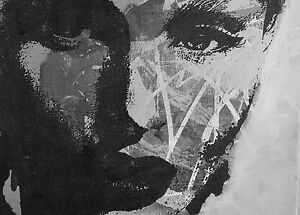 A0-Size-poster-satin-paper-Print-black-white-pop-Art-girl-warhol-woman-face
