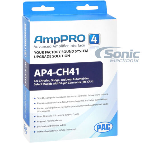 PAC AP4-CH41 Amplifier Interface for 2013-17 Chrysler//Dodge//Jeep//Ram
