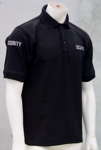 Black-Embroidered-Security-Polo-Shirt-100-Cotton-4-x-Embroideries-XS-to-5XL