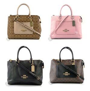 Coach-F31467-F31468-Emma-Satchel-Leather-Crossbody-Hand-Bag