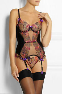 AGENT PROVOCATEUR £395 NEW  ZURI 32C TULLE AND SILK  CORSET BASQUE NEW