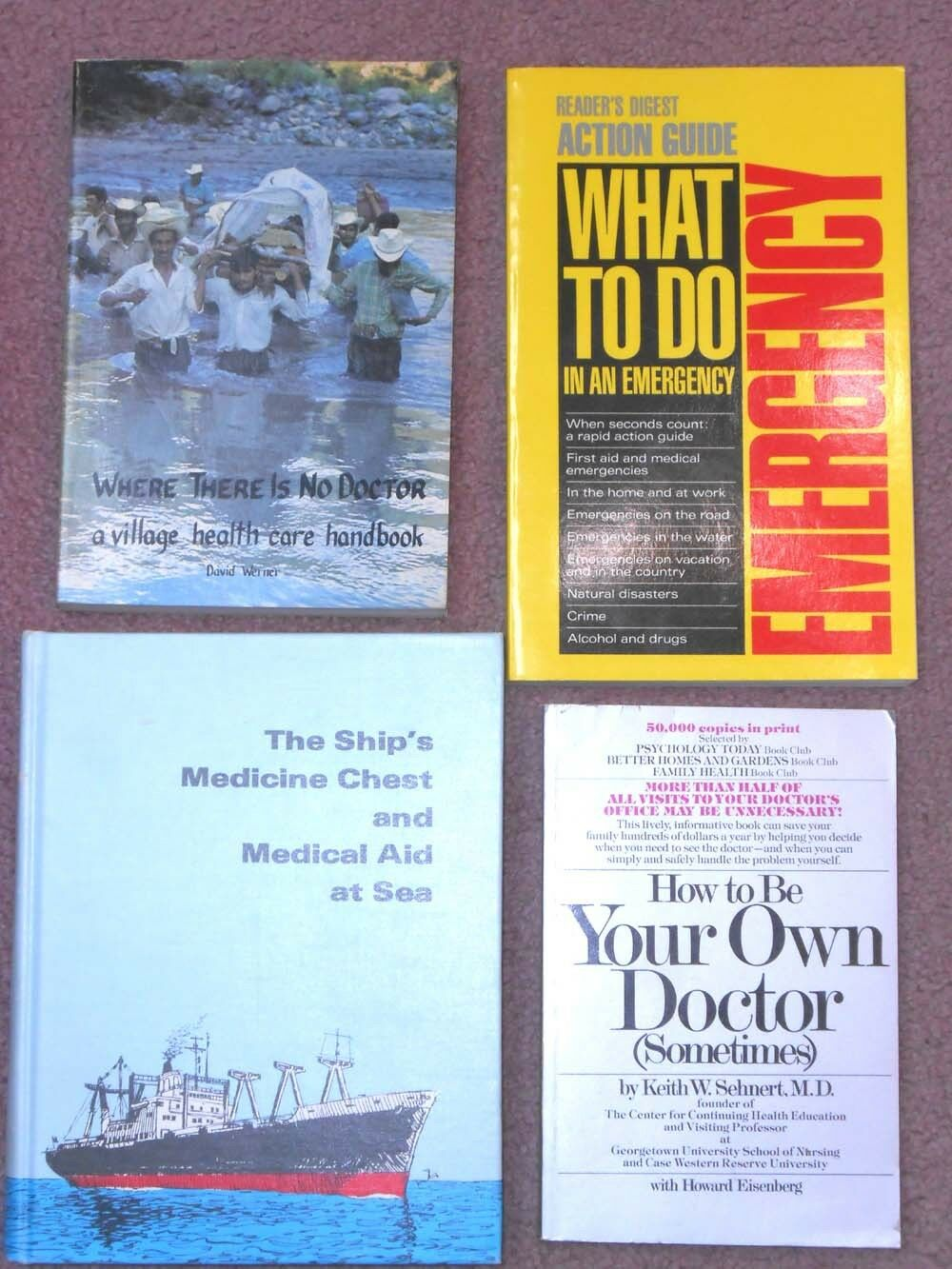 (4) DIY Medical Emergency   Survivalist Guides - for when there is no doctor
