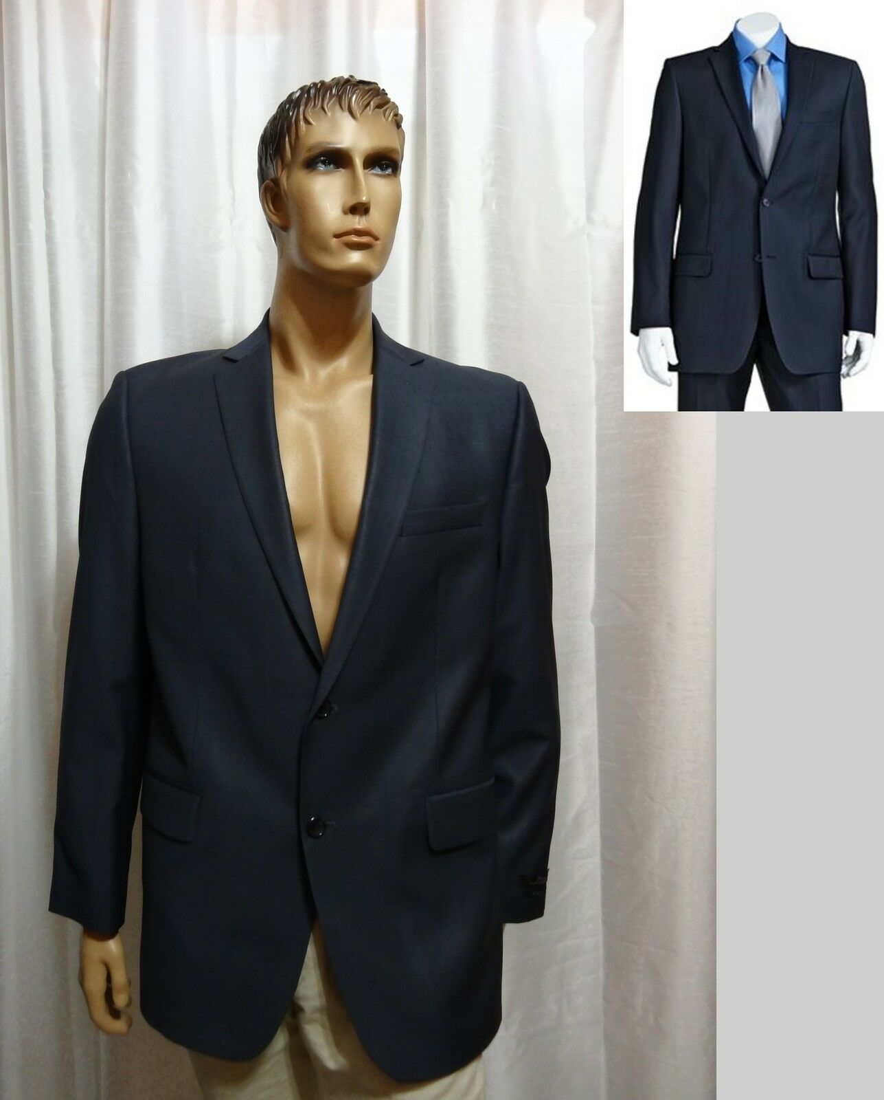 Marc Anthony Navy Slim Fit Wool Mix Suit Separates sportcoat 44R 44 reg NEW
