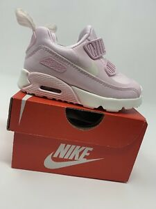 BABY-GIRL-Nike-Air-Max-Tiny-90-Shoes-Pink-amp-White-Size-5C-881928-600