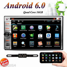 Android 6.0 Double 2 Din Car Stereo Radio GPS Wifi 4G OBD2 HD Mirror Link BT DVD