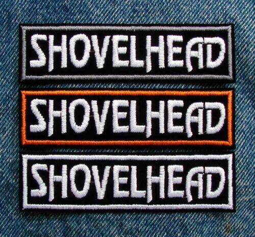 """SHOVELHEAD SHOVEL Biker Motorcycle Patch by Dixiefarmer 1/"""" X 4/"""" PICK YOUR COLOR"""