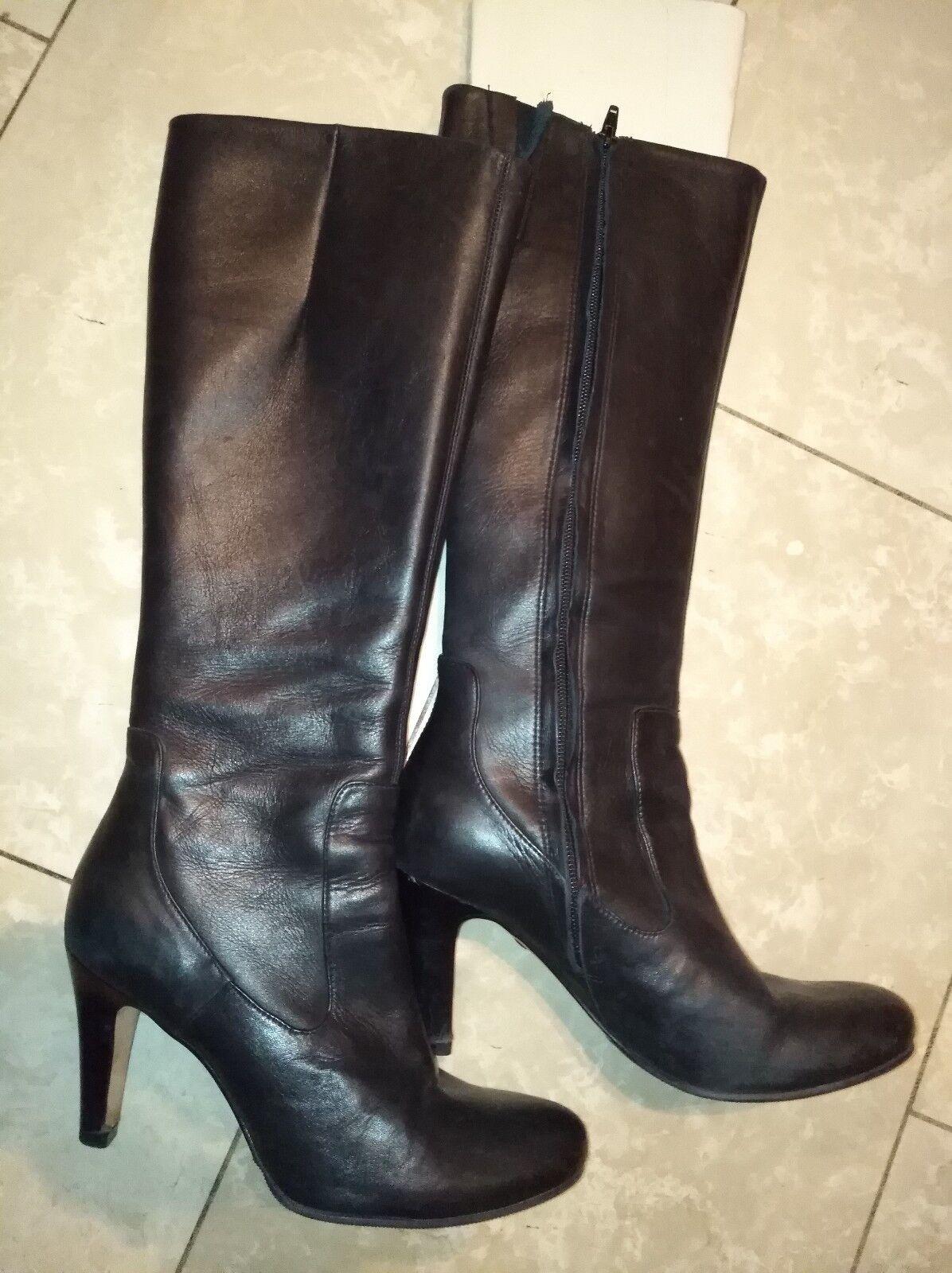 Bottes-Bottes femmes noir taille 37 Bottes en cuir