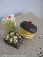 REALISTIC FAKE PLAY FOOD PROP ●  MTC RUBBERY SWEETS CAKE FUDGE BROWNIE CUPCAKE
