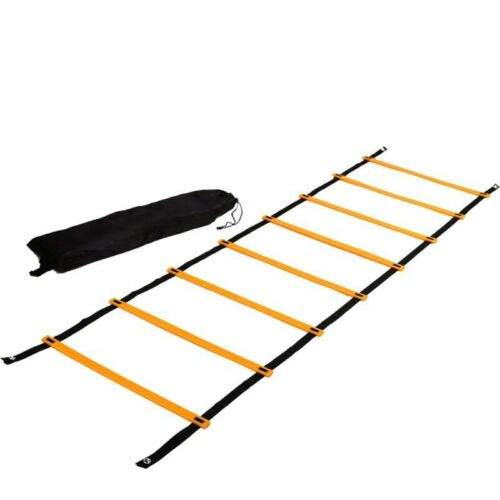 4 Rungs Speed Training Ladder Agility Footwork Football Workout w//Carry Bag 2M