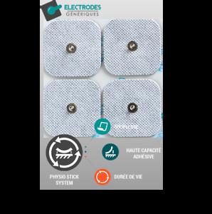 Pack-de-40-electrodes-pad-Snap-carre-50x50mm-compatible-Compex