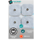 Pack-de-40-electrodes-pad-Snap-carre-50x50mm-compatible-Compex miniature 1
