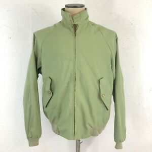 VINTAGE-60s-70s-JC-PENNEY-G9-Baracuta-Harrington-Jacket-Green-BRASS-Talon-ZIP