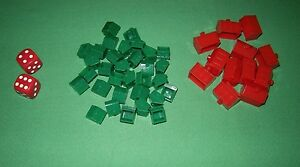 Monopoly-Standard-1985-Parts-Hotels-Houses-Red-Dice-MP05