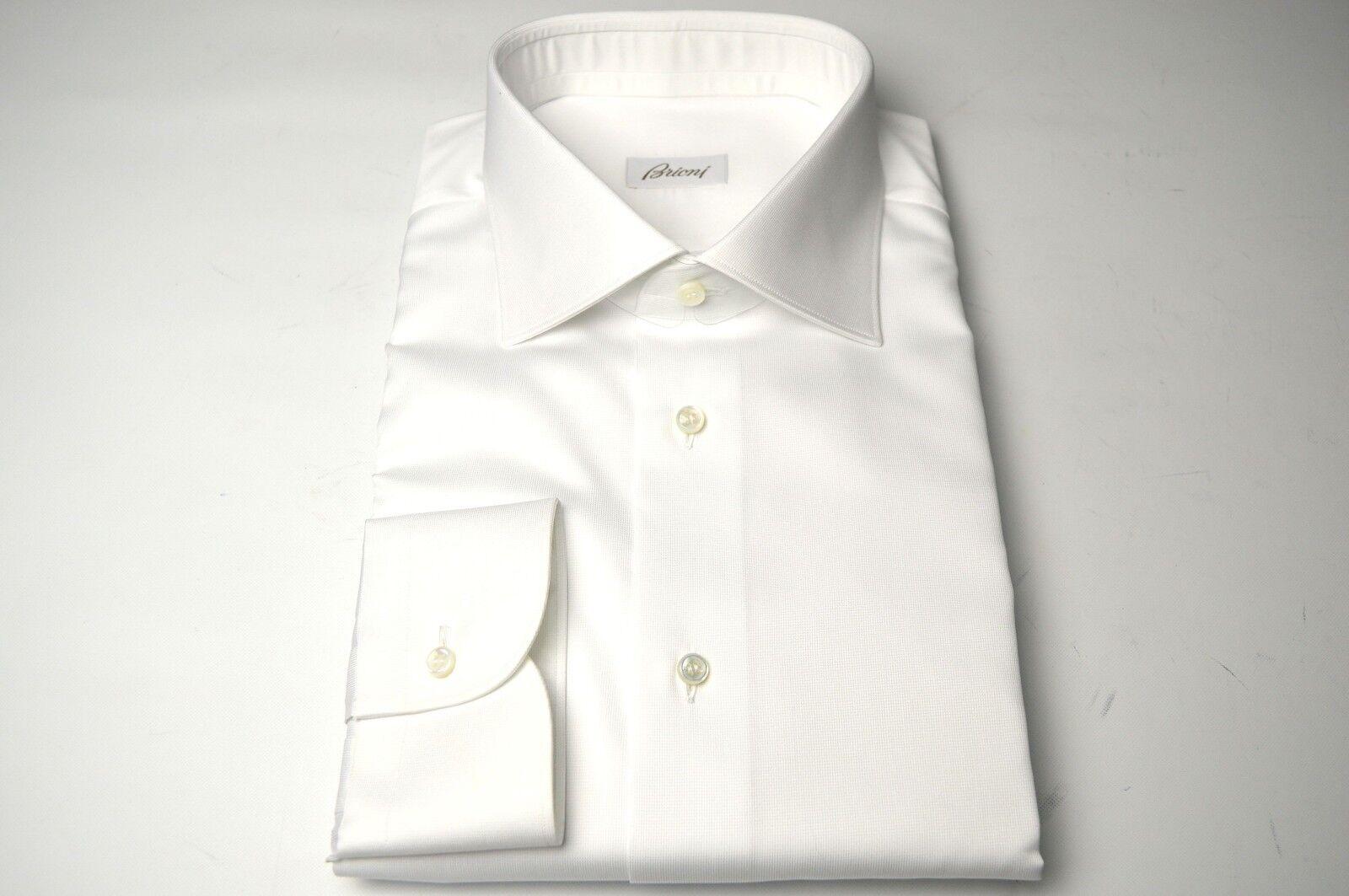 NEW  BRIONI Dress Weiß SHIRT 100% Cotton Größe 16.5 Us 42 Eu  (SE75)