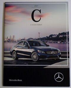 Details About 2017 Mercedes Benz C Class Sedan C300 Hybrid Amg Brochure Catalog Usa English