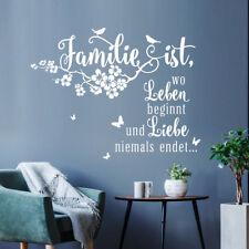 Wandtattoo Spruch Familie ist wo Leben beginnt Liebe Zuhause Wandsticker ws12d