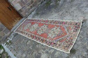 Vintage-Handmade-Turkish-Oushak-Runner-Rug-9-039-10-034-x3-039-2-034